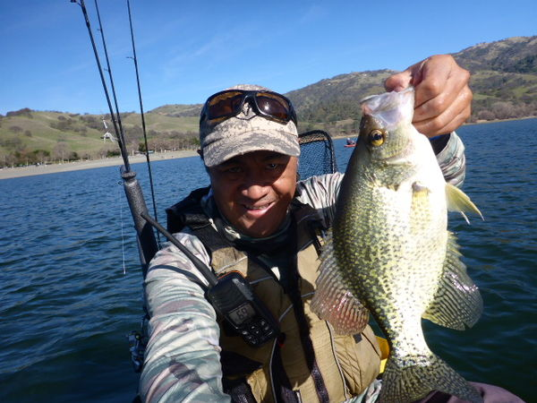 My first of many crappie :-)...